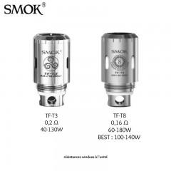 Résistances pour TFV4 - Smok