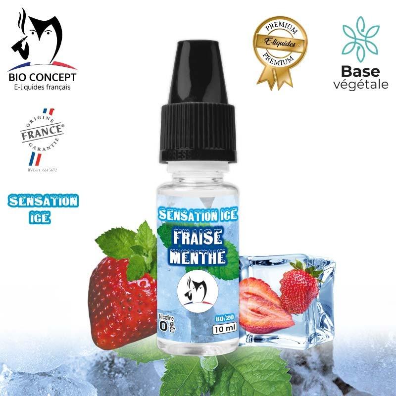 E-liquide Fraise Menthe premium Sensation ice Bioconcept