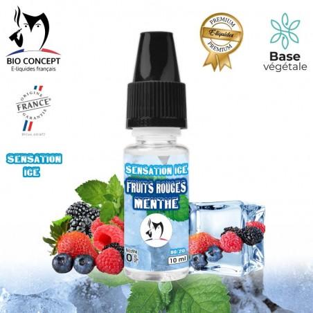 E liquide Fruits rouges Menthe Sensation Ice Bioconcept