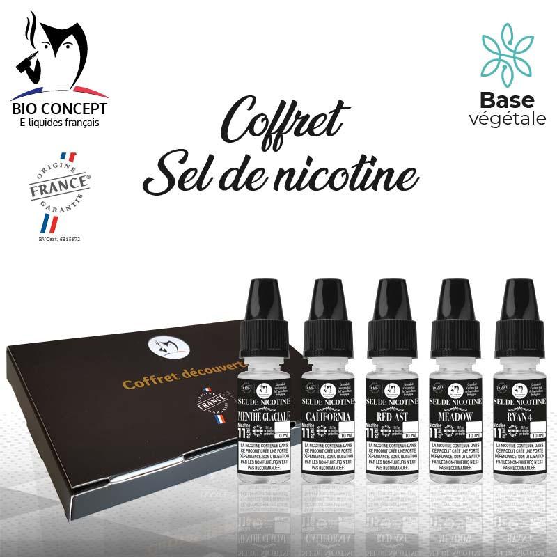 Coffret e liquides sel de nicotine Bioconcept