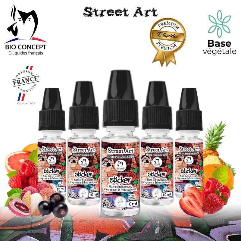 E liquide premium street art sticker Bioconcept