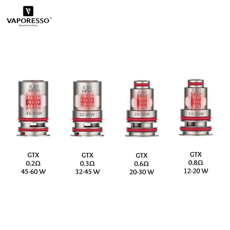 Résistances GTX Coil Triple Silicon Protection vaporesso