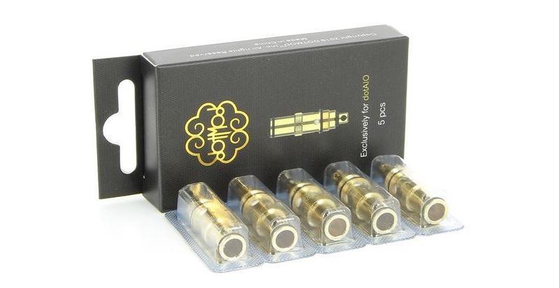 Boîte de 5 résistances pour e-cigarette DotAIO - DOTMOD